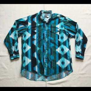 Vintage Wrangler Cowboy Cut X-Long Tails Shirt